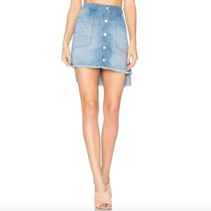Bella Dahl High Low Mini Skirt in Indio Wash